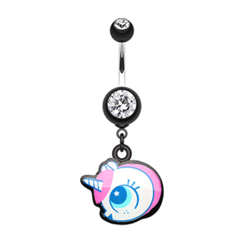 Dangling Belly Ring. Shop Belly Rings. Baby Unicorn Belly Dangle