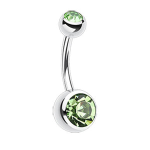 Classique Gem Bananabell Belly Bars - Basic Curved Barbell. Navel Rings Australia.