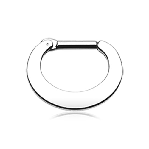 Classic Steel Loop Septum Clicker - Septum. Navel Rings Australia.