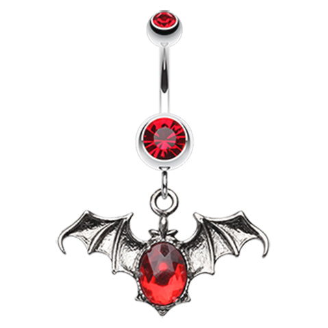 Gothems Bat Belly Button Ring - Dangling Belly Ring. Navel Rings Australia.