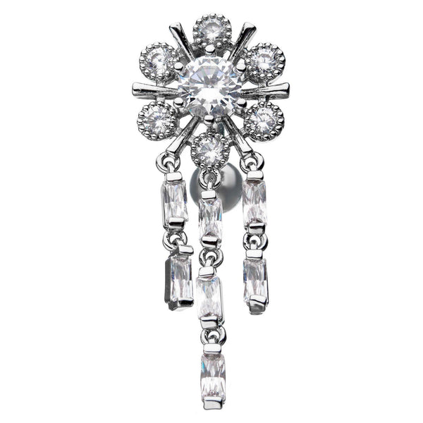 Glamour Wheel Reverse Belly Ring - Reverse Top Down Belly Ring. Navel Rings Australia.