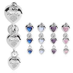 Bellè Heart Drop Belly Button Ring