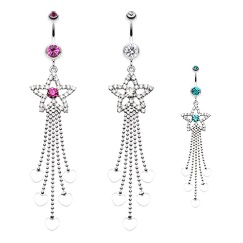 Star Struck Belly Chandelier - Dangling Belly Ring. Navel Rings Australia.