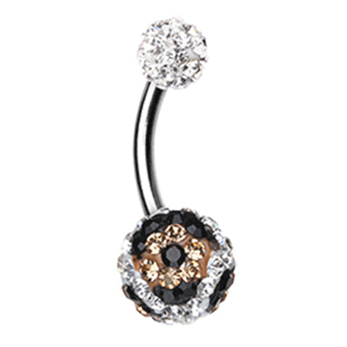 Rose Gold Plated Kingdom Gem Navel Bar