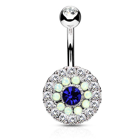 Indigo Blue Juliet's Triple Tiered Belly Button Bar