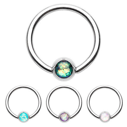 Classique Opal Captive Belly Rings - Captive Belly Ring. Navel Rings Australia.