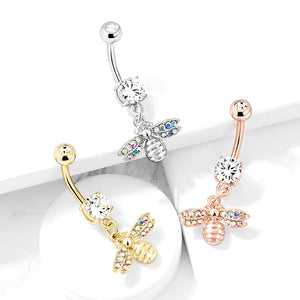 She Bee Belly Dangle - Dangling Belly Ring. Navel Rings Australia.