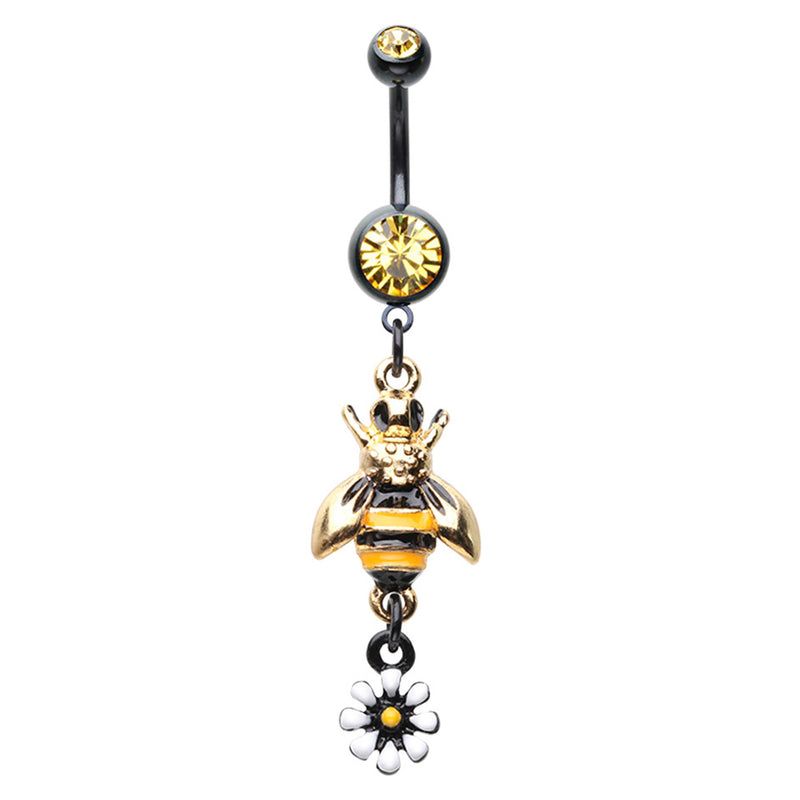 Wild Bee Belly Dangle - Dangling Belly Ring. Navel Rings Australia.