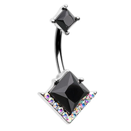 Fixed (non-dangle) Belly Bar. Shop Belly Rings. Midnight Disco Belly Bar
