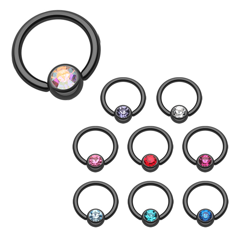 Blackline Titanium Captive Bead Belly Rings - Captive Belly Ring. Navel Rings Australia.