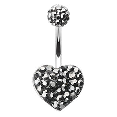 Motley's Midnight Crush Heart Belly Ring