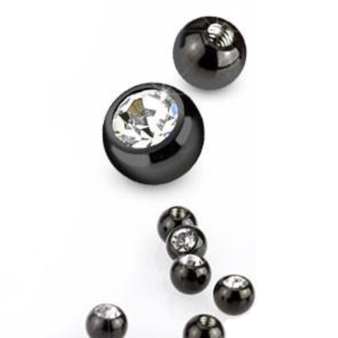 Titanium Plated Surgical Steel 14g Balls - Replacement Ball. Navel Rings Australia.