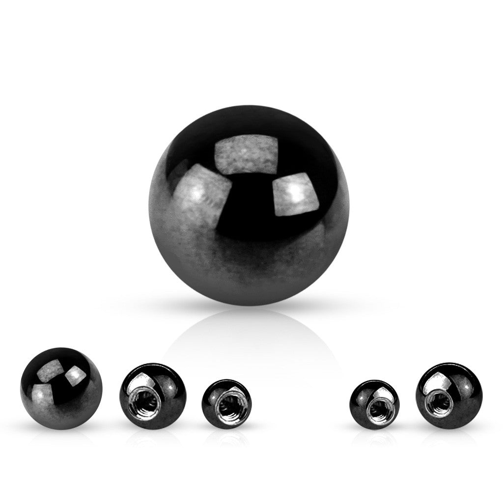 Replacement Ball. Belly Bars Australia. 14g Titanium Plated Replacement Balls