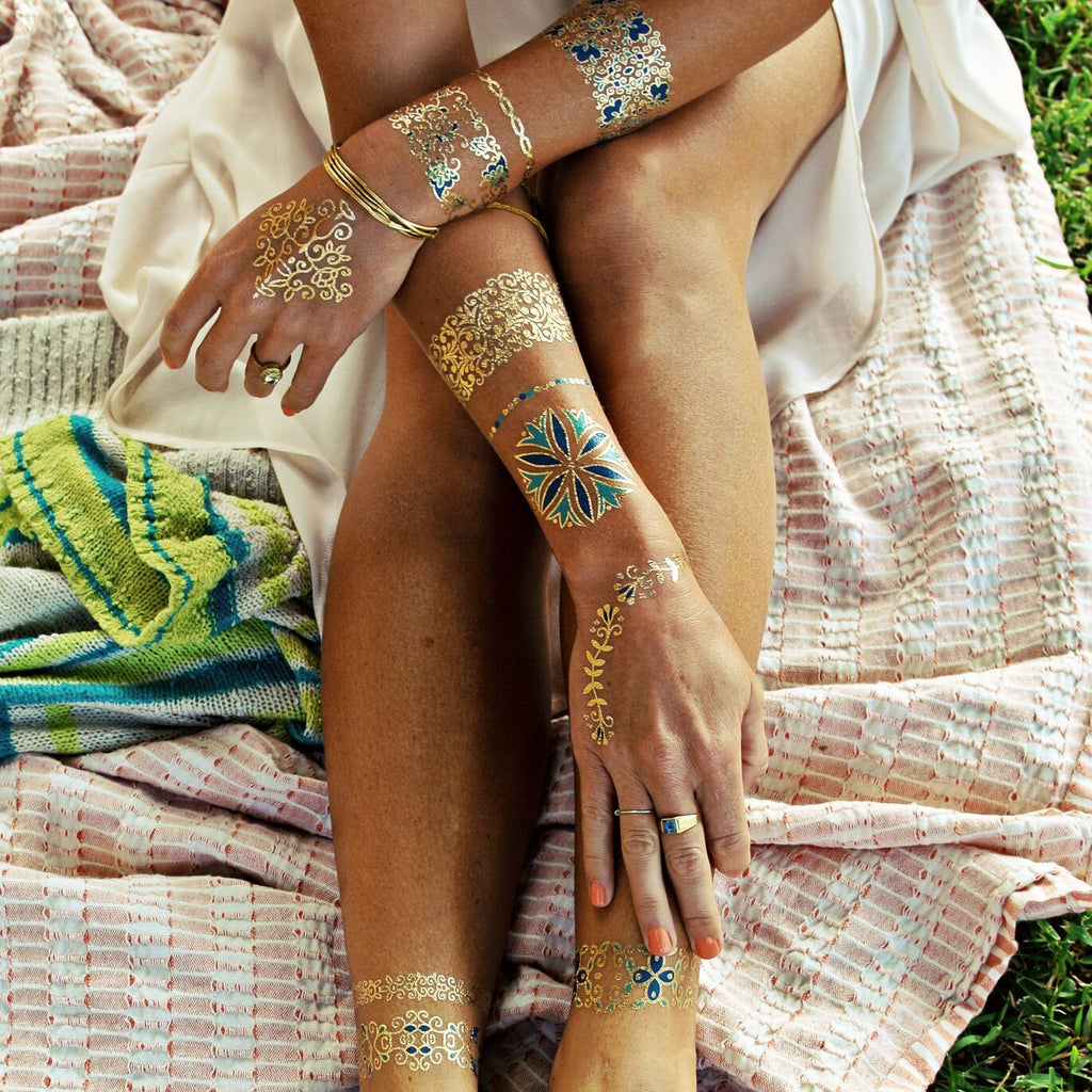Water Resistant Metallic Tattoos. Isabella by Flash™ – The Belly ...