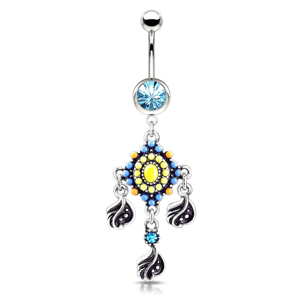 Indie Dream Reverie Belly Dangle - Dangling Belly Ring. Navel Rings Australia.
