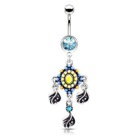Dangling Belly Ring. Belly Bars Australia. Indie Dream Reverie Belly Dangle