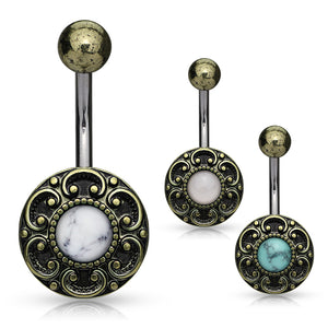 My Bali Boheme Belly Bar - Fixed (non-dangle) Belly Bar. Navel Rings Australia.