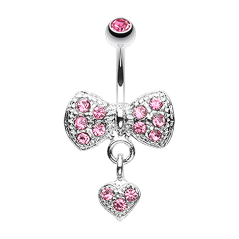 Bow n' Romeo Belly Ring - Fixed (non-dangle) Belly Bar. Navel Rings Australia.