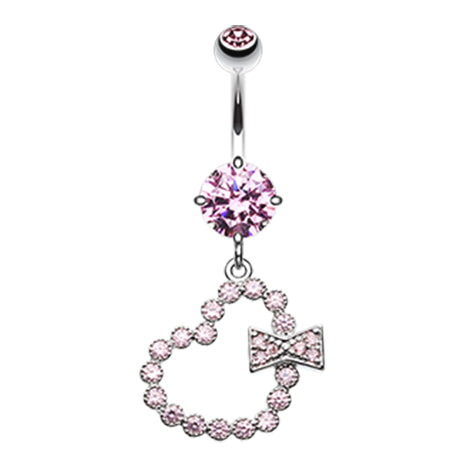 Sweeter Than Love Belly Bar - Fixed (non-dangle) Belly Bar. Navel Rings Australia.