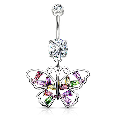 Spring Vogue Belly Bar in Rose Gold