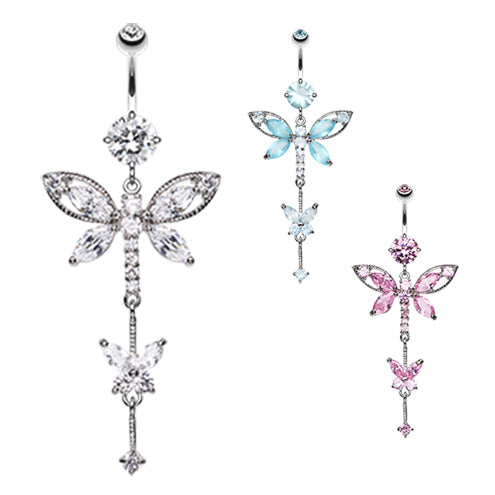 Carmalés Butterfly Belly Ring - Dangling Belly Ring. Navel Rings Australia.
