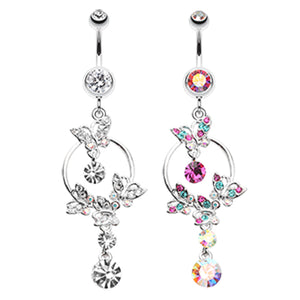 The Butterfly Circuit Navel Ring - Dangling Belly Ring. Navel Rings Australia.