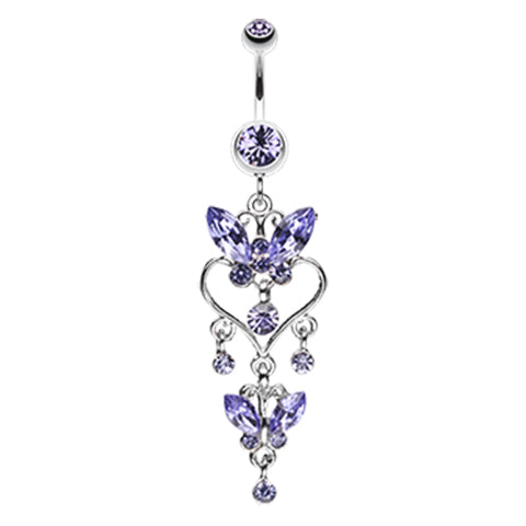 Tanzanite Sophistiqué Butterfly Chandelier Belly Ring
