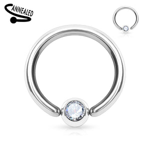 One End Ball Hoop Captive Belly Rings - Captive Belly Ring. Navel Rings Australia.