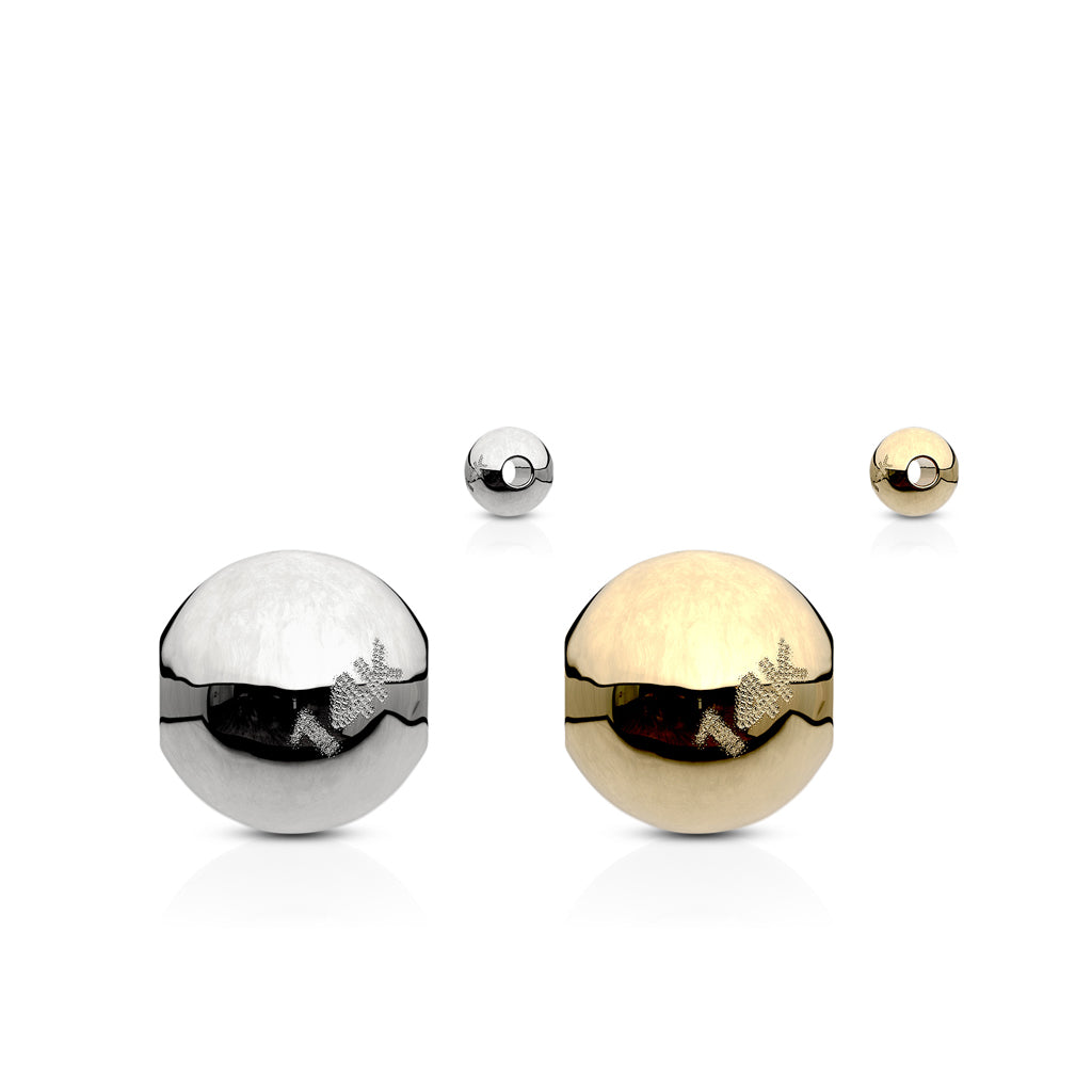 14K Gold Captive Bead Belly Ring Replacement Balls - No Gems - Replacement Ball. Navel Rings Australia.
