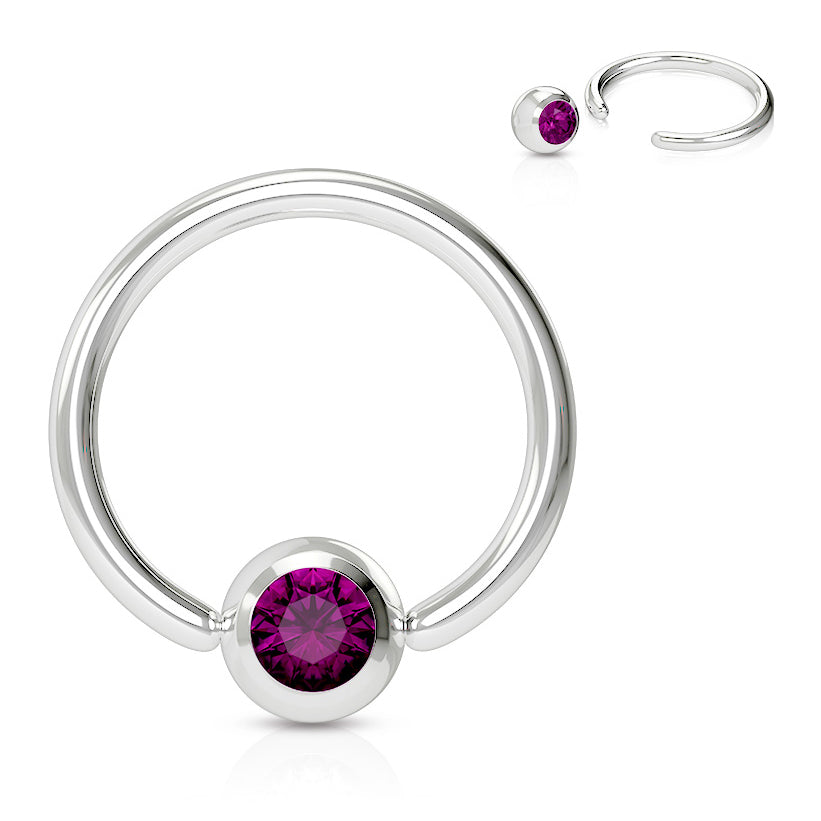 Captive Belly Ring. Buy Belly Rings. 16g Classic Gem Captive Bead Body Jewellery