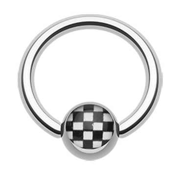 Checker Ball Captive Belly Ring - Captive Belly Ring. Navel Rings Australia.