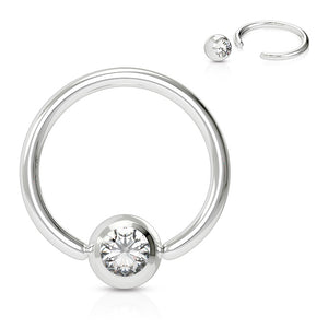 16g Classic Gem Captive Bead Body Jewellery - Captive Belly Ring. Navel Rings Australia.