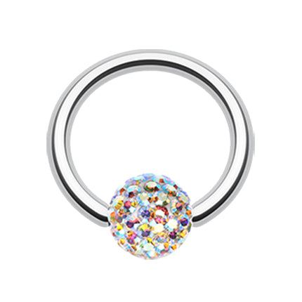 Aurora Borealis Motleys™ Captive Belly Ring