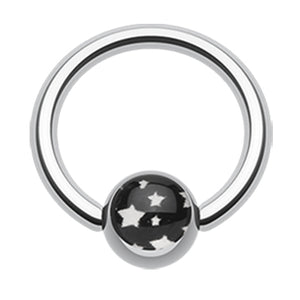 Star Galaxy Captive Belly Ring - Captive Belly Ring. Navel Rings Australia.