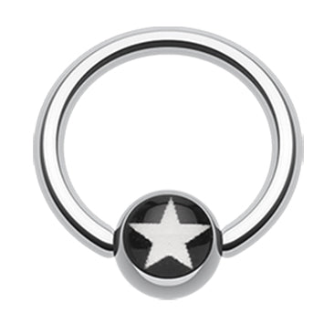 Captive Belly Ring. Belly Rings Australia. Galactic Star Captive Belly Rings