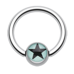 Galactic Star Captive Belly Rings - Captive Belly Ring. Navel Rings Australia.