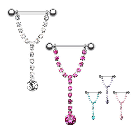 Nipple Ring. Buy Belly Rings. Chandelier Drop Nipple Barbell Ring