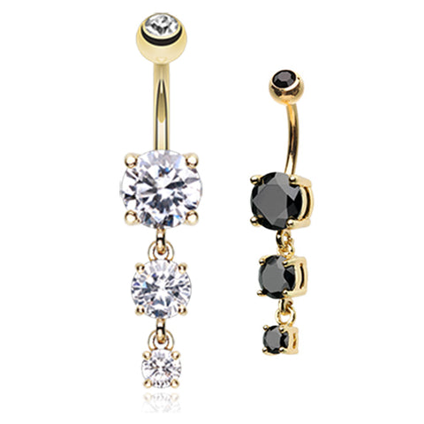 Dangling Belly Ring. Navel Rings Australia. Classic Gem Journey Navel Ring