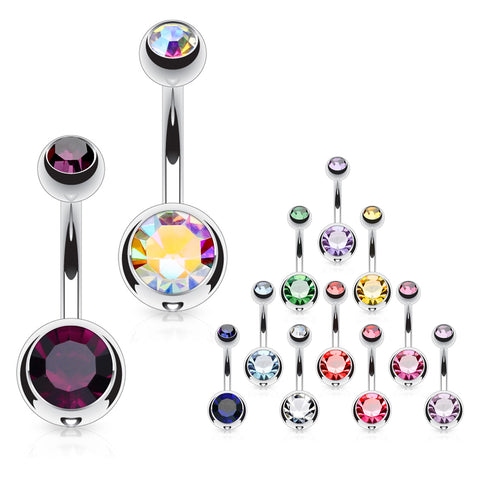 Duo Honeycomb Ball Belly Rings