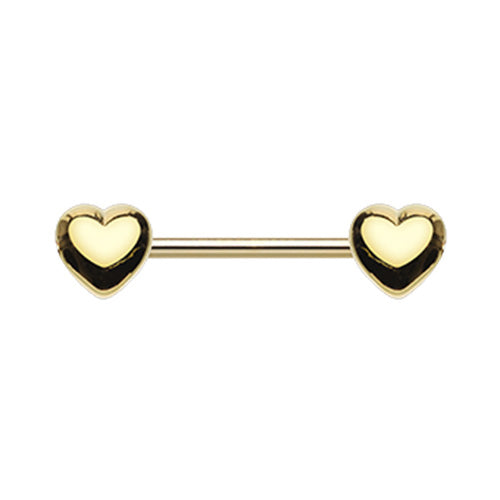 Classic Heart Nipple Body Jewellery in Gold - Nipple Ring. Navel Rings Australia.
