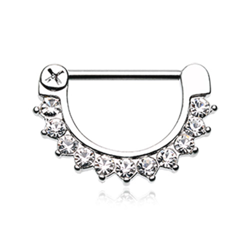Gracie's Classic Prong Nipple Clicker - Nipple Ring. Navel Rings Australia.