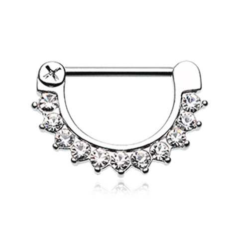 Nipple Ring. Shop Belly Rings. Gracie's Classic Prong Nipple Clicker