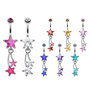 Seeing Stars Belly Dangle - Dangling Belly Ring. Navel Rings Australia.