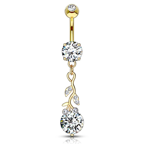 Rose Gold Aurora Ornate Belly Ring