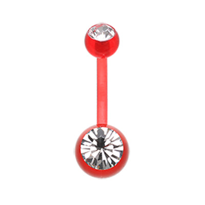 Red Ultra Comfort Glam Bio Flex Belly Rings