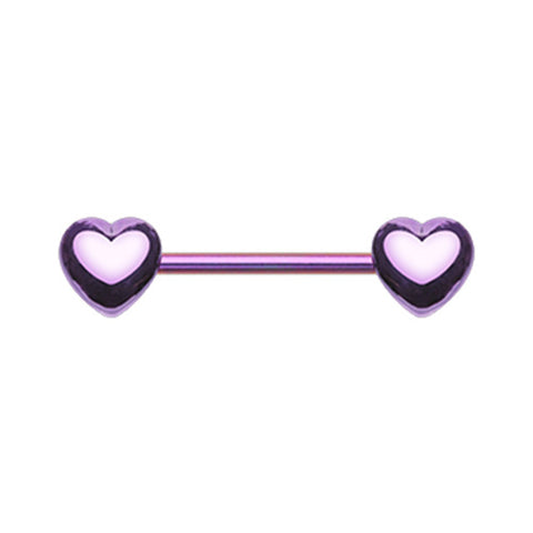 Nipple Ring. Navel Rings Australia. Crushin' Purple Hearts Nipple Barbell