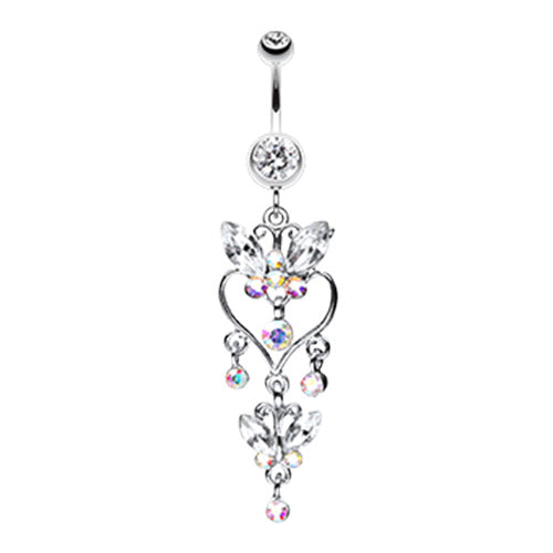 Dangling Belly Ring. Belly Rings Australia. Sophistiqué Butterfly Chandelier Belly Ring