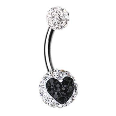 Basic Curved Barbell. Belly Rings Australia. Motleys™ Divine Heart Belly Ring