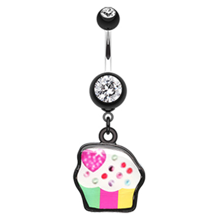 Black Cupcake Candy Belly Bar