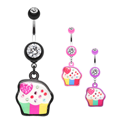 Dangling Belly Ring. Belly Bars Australia. Cupcake Candy Belly Bar